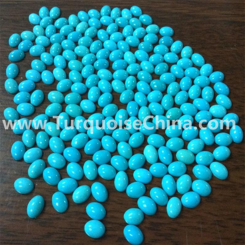 Sleeping Beauty 5A Turquoise 3x5mm Oval Gemstone Turquoise Cabochon