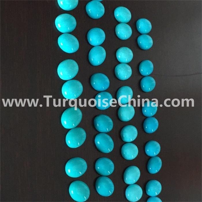 Gemstone Turquoise oval cabochons  wholesale