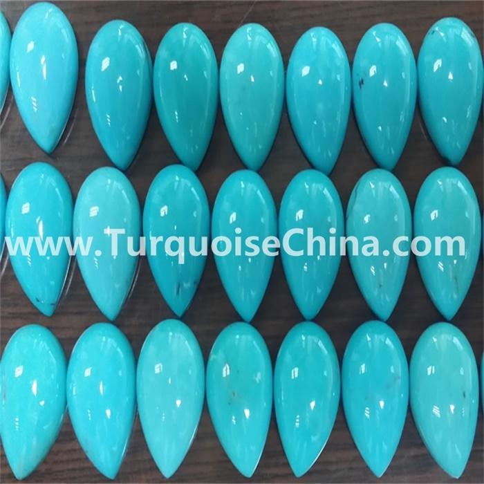 1 pieces 16.5x12.5mm Turquoise Cabochon Pear Loose Gemstone Sleeping Beauty Arizona TURQUOISE Pear Cabochon Loose Gemstone