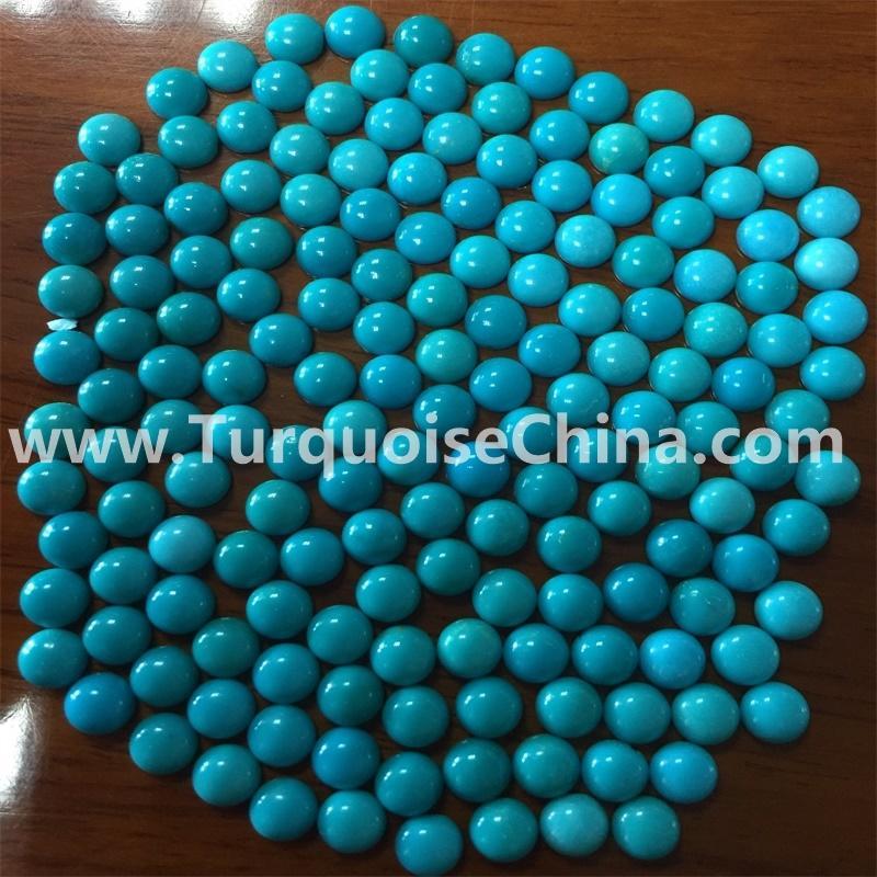 Gemstone turquoise sleeping beauty round cabochon jewelry