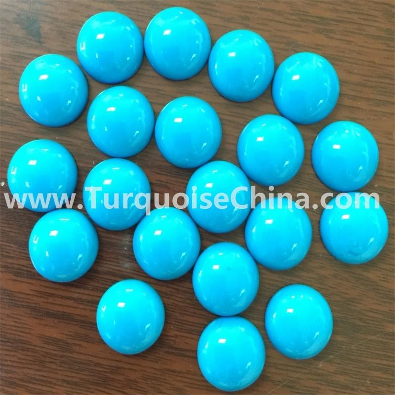 Turquoise Cabochon 10mm Round Calibrated Domed Sleeping Beauty Stacking Stone Aqua Earrings  gemstone jewelry