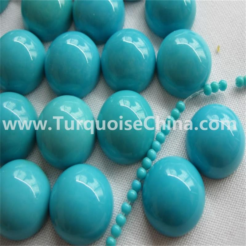 Natural Extra Fine Round Sleeping Beauty Turquoise Cabochon  USA - AAA+ Grade