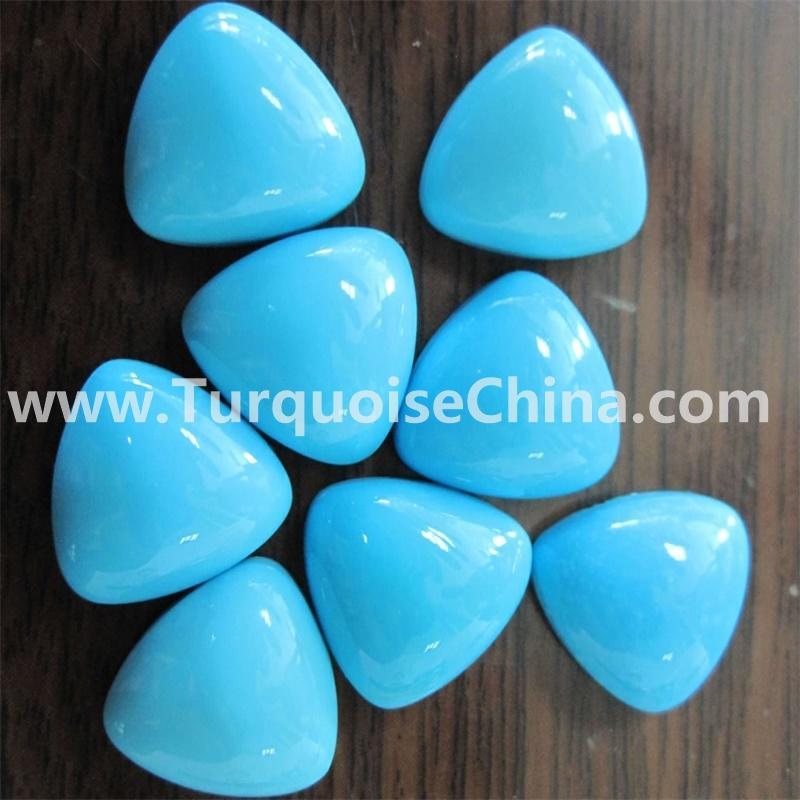 Gemstone Sleeping Beauty Turquoise Triangle cabochon jewelry