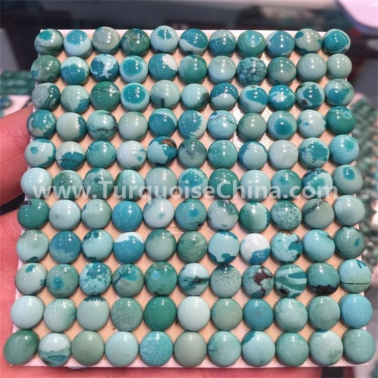 Chinese Turquoise Matrix, turquoise Oval Cabochon 10x8mm