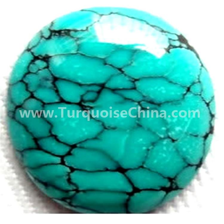 wonderful natural turquoise oval shape cabochon come from  Hubei turquoise mine