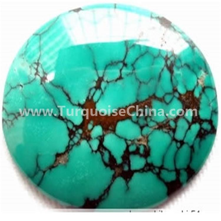 AAA Turquoise Oval Cabochon  Natural Turquoise Matrix Copper Filled Semi Precious Gemstone Cabochon