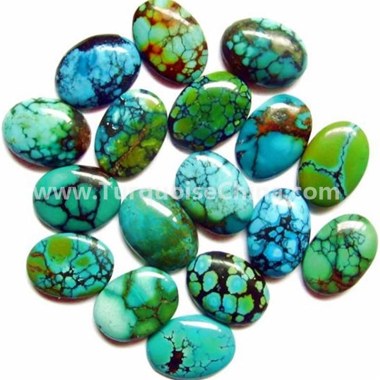 unique natural HuBei turquoise mine very hardness turquoise rough cut out turquoise oval gemstone cabochon