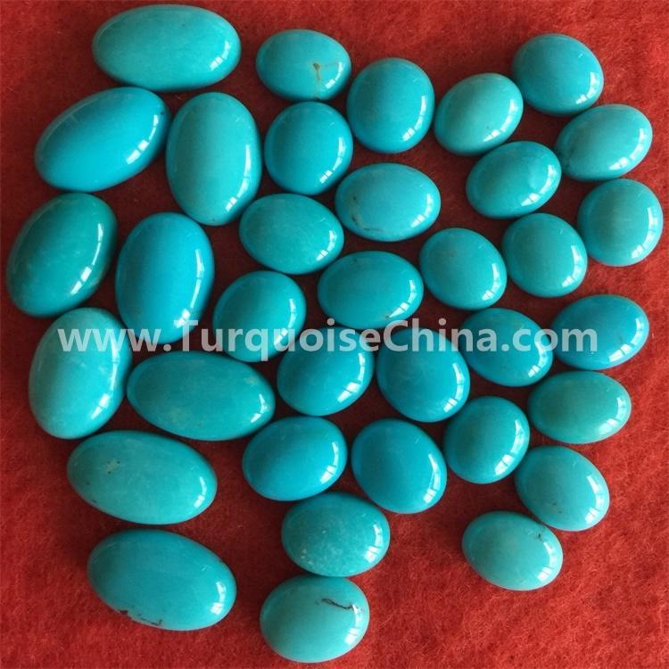 gemstone turquoise blue oval cabochons tibetan jewelry