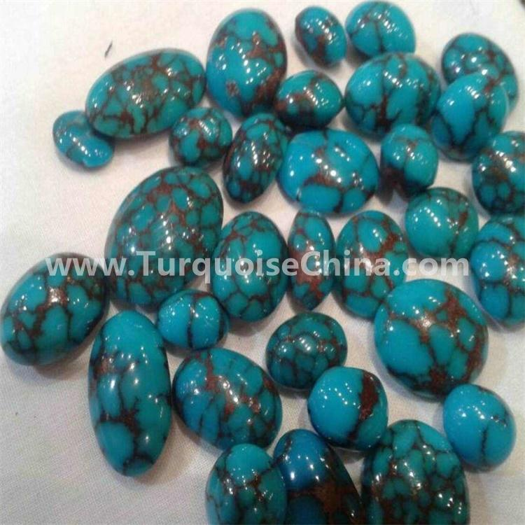 gemstone quality turquoise oval cabochon jewellery