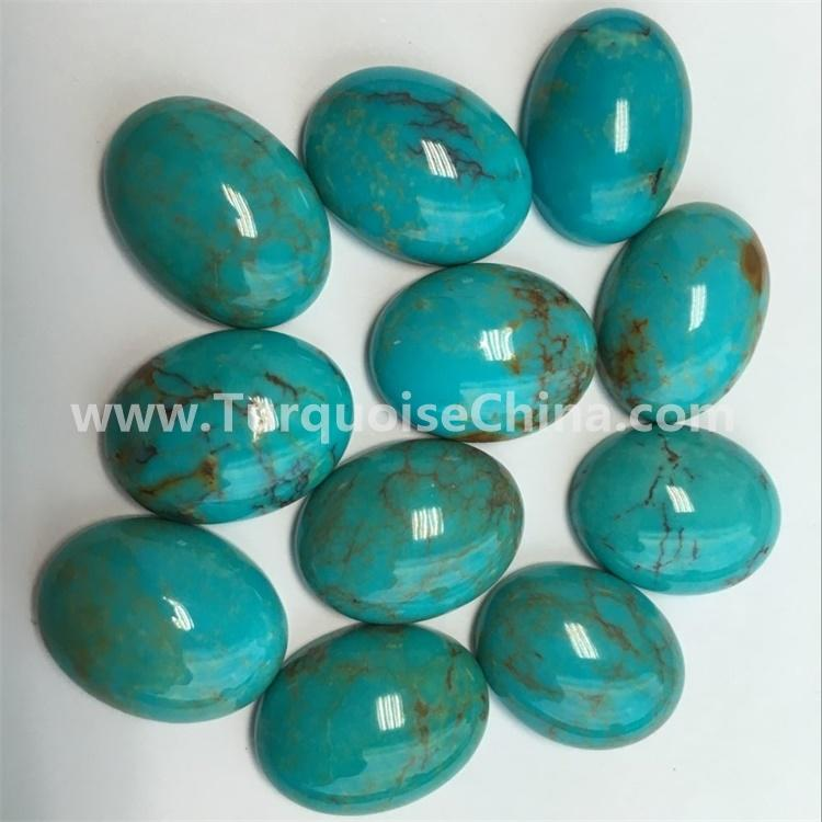 Natural Arizona Copper Blue Turquoise Excellent Loose Oval Cabochon