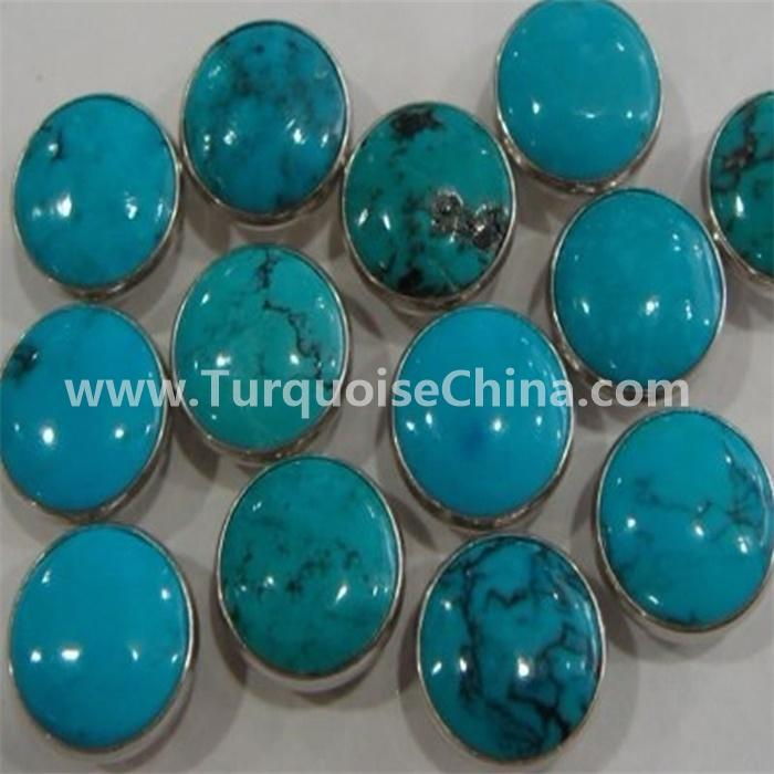 Natural Arizona Constitute Turquoise Round Calibrated Cabochon Gemstone