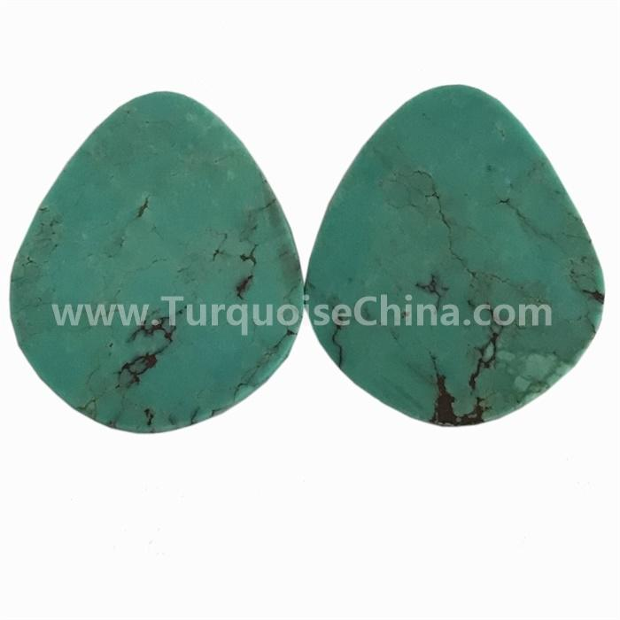 100% Natural beautiful designer ARIZONA Turquoise Pear cabochon gemstones for jewelry making