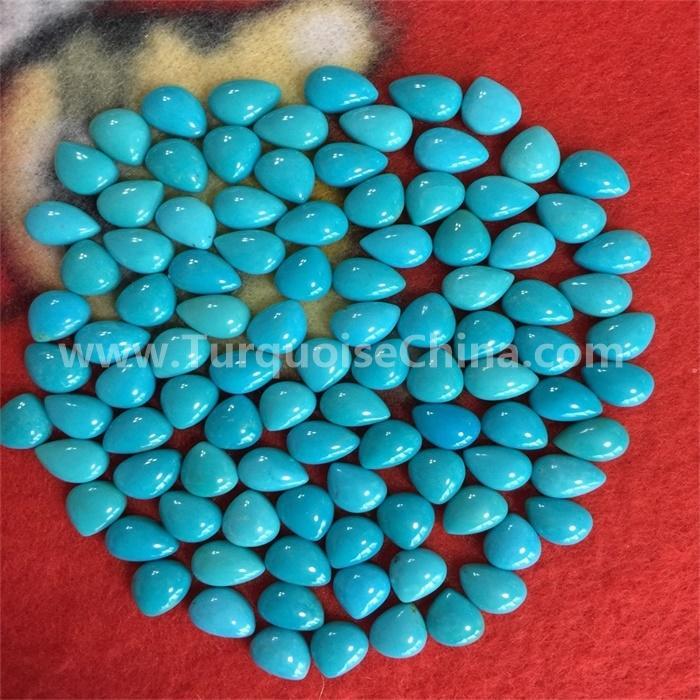 Natural Designer Arizona Turquoise Pear Cabochon Fabulous Gemstone