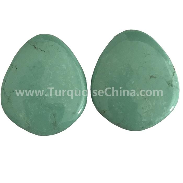 100% Natural Rare Old Tibetan Turquoise Pear Cabochon Loose Gemstones jewellery