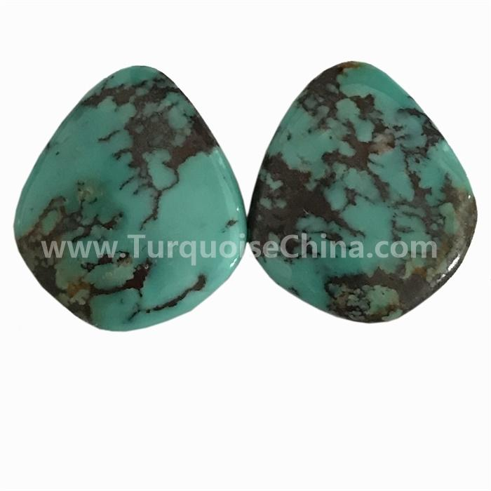 Natural Kingman Turquoise Mountain Cab Cabochon High Grade Spider Web Kingman