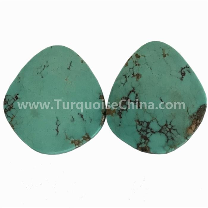 China Hubei genuine turquoise pears shape cabochons