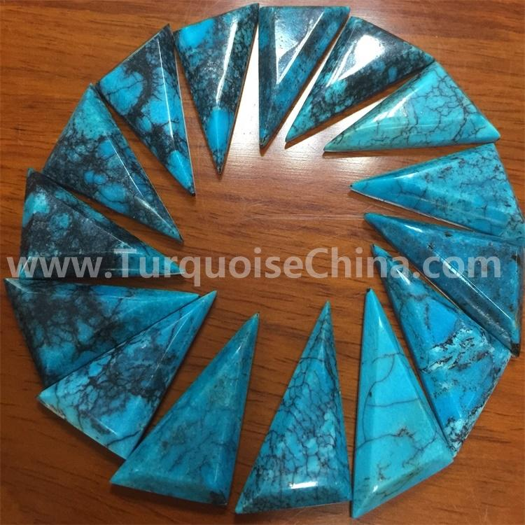 Chinese Turquoise Stone Cabochon Triangle Jewelry Supplies