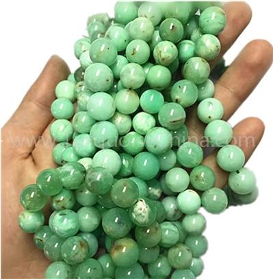 Natural chrysoprase round shape beads gemstone strings  Grade A