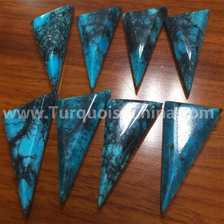 naturally Turquoise Stabilized Trapezoid Cabochon use jewelry