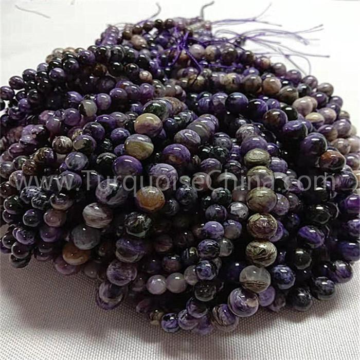 Natural Charoite AA round shape beads gemstone strings