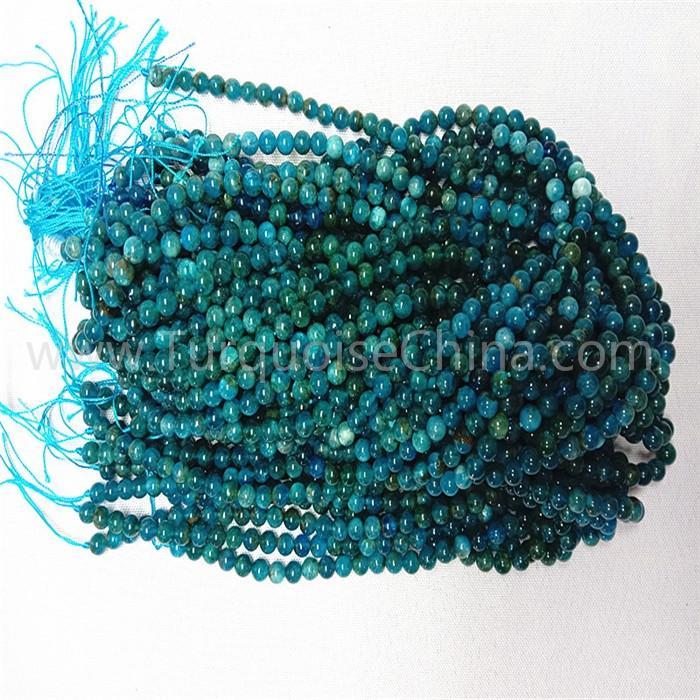 Natural Blue Apatite round shape beads gemstone strings AB