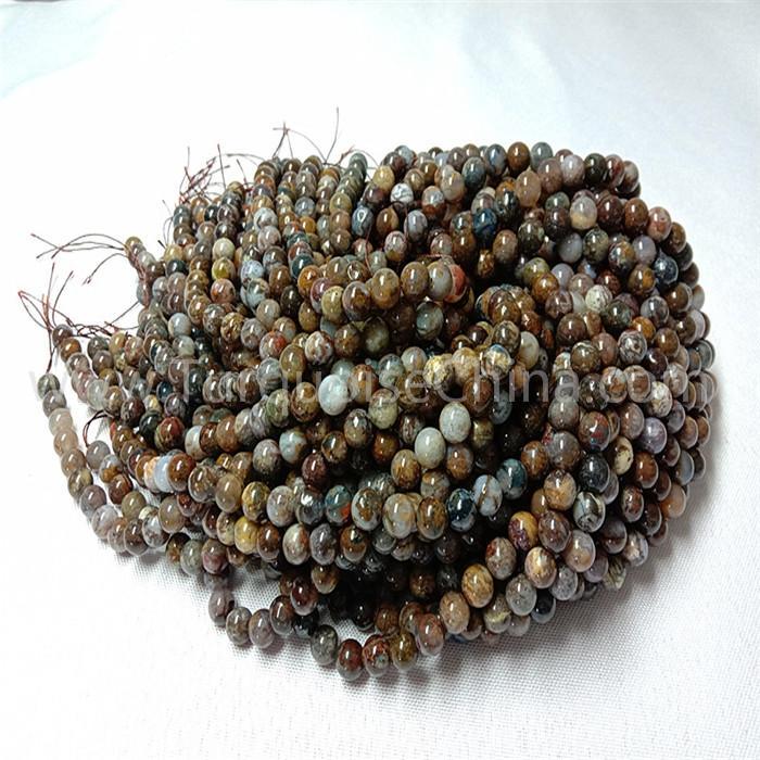 Natural Golden Pietersite round shape beads gemstone strings