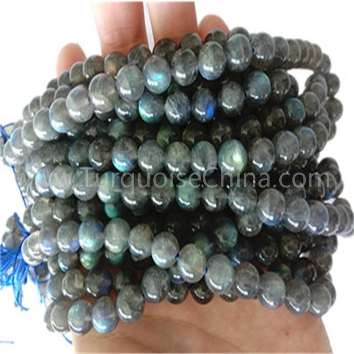 Natural grey Labradorite round shape beads gemstone strings