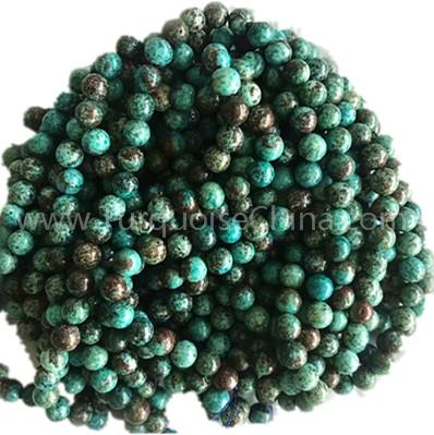 Natural Chrysocolla A round shape beads smooth gemstone strings
