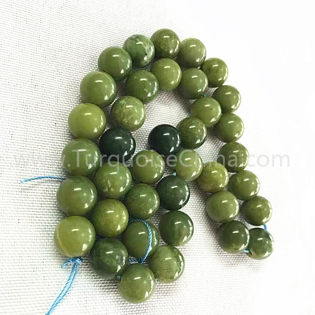 Natural Canadian jade round shape beads gemstone strings