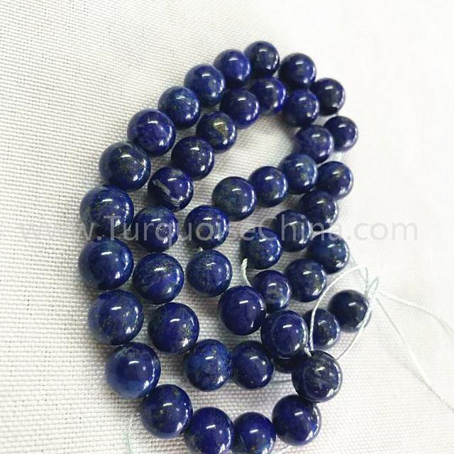 Natural blue Lapis round shape beads smooth gemstone strings
