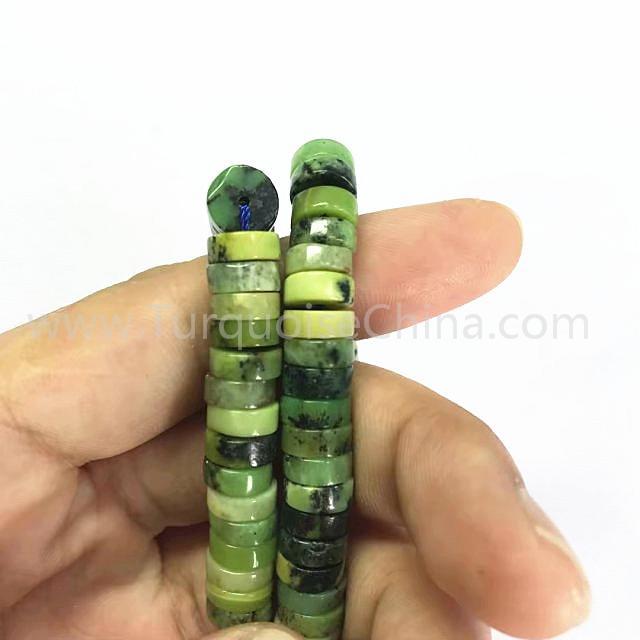 Natural green Chrysotine rondelle shape beads gemstone strings