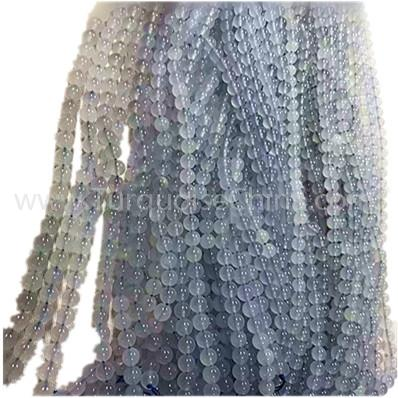 Natural Chalcedony round shape beads blue gemstone strings