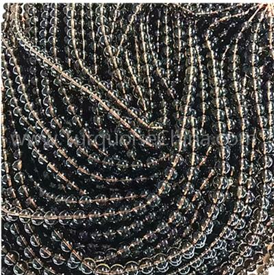 Natural Smoky quartz round shape beads smooth gemstone strings