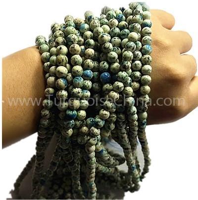 Natural K2 round shape beads pale-yellow gemstone strings