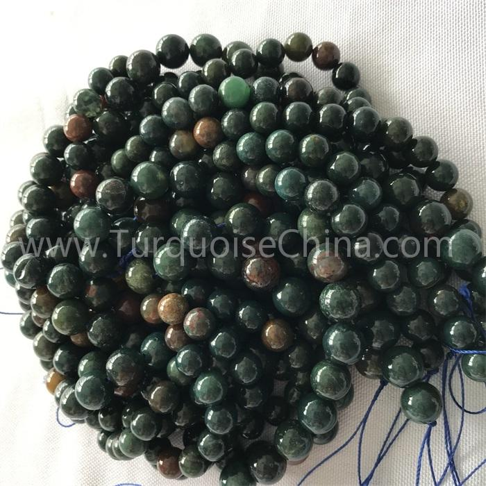 Natural Bloodstone round shape beads gemstone strings