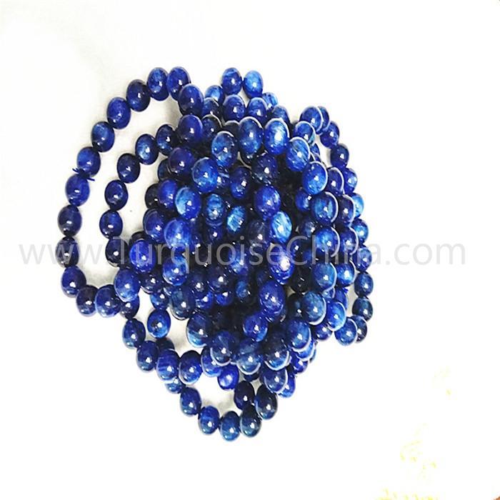 Natural Kyanite round shape beads gemstone bracelet