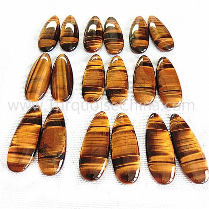 Natural Tiger stone water drop shape smooth wholesale