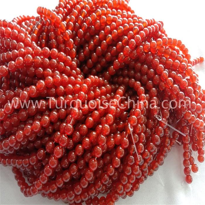 Natural Red Carnelian round shape beads gemstone strings