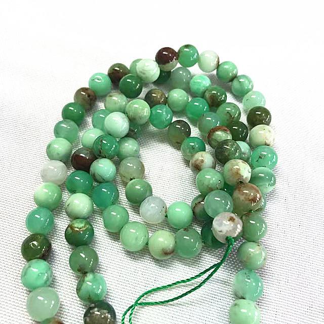 Grade AB natural Chrysoprase round shape beads gemstone strings