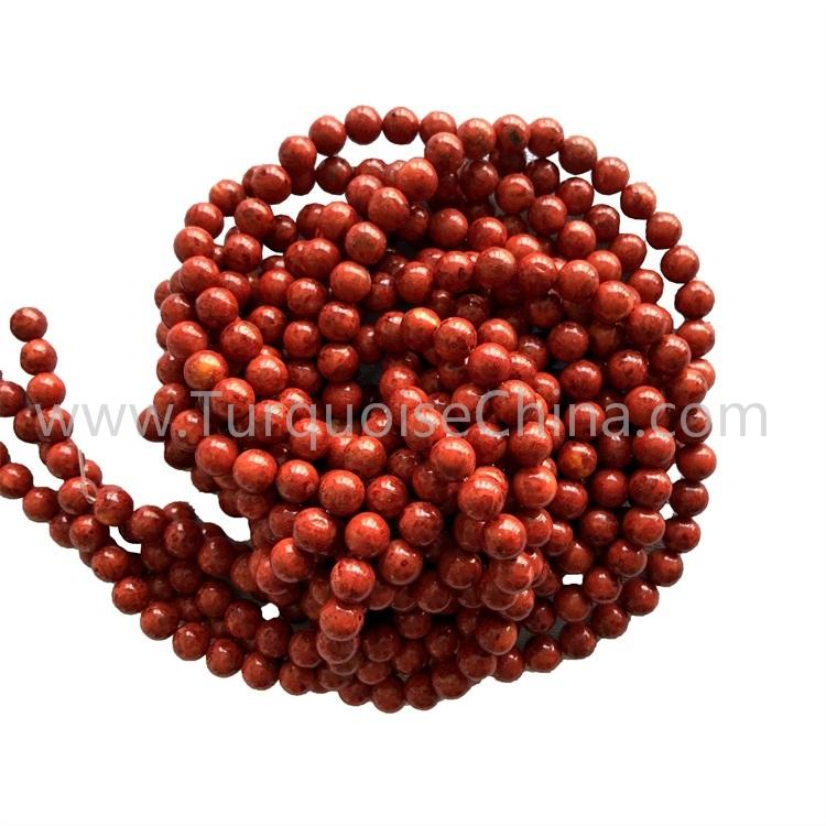 4mm 6mm 8mm Red-color Apple Coral round shape beads gemstone strings