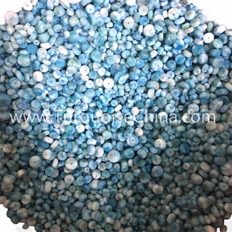 Natural Larimar button beads gemstone