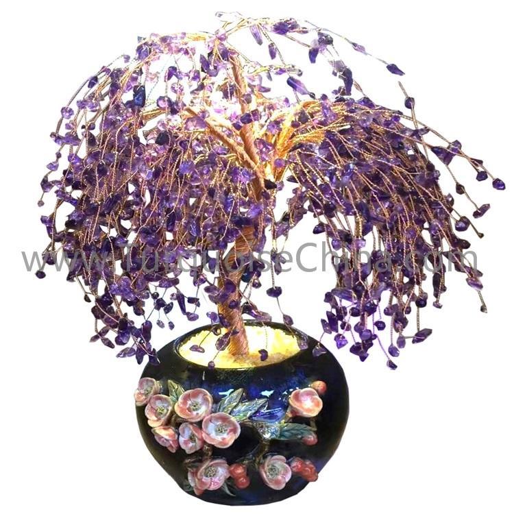 Handmade gemstone tree/ jade gemstone tree ornaments