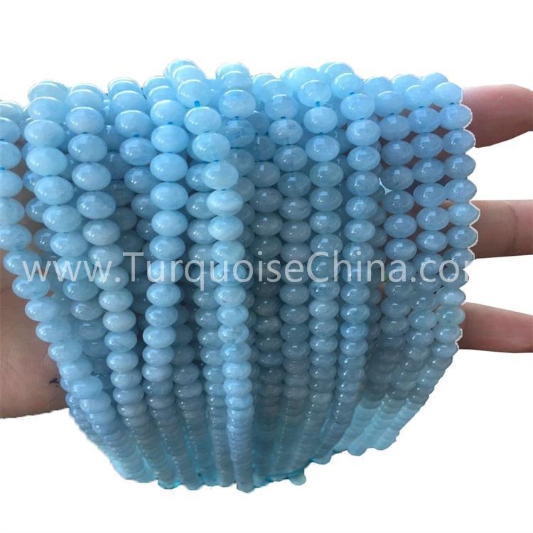 Hot-sale Blue Aquamarine Round Beads Gemstone Strings