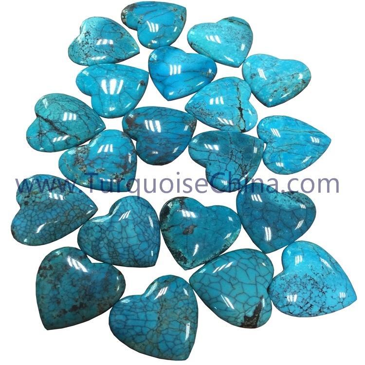 100% natural Turquoise heart shape cabochon gemstones