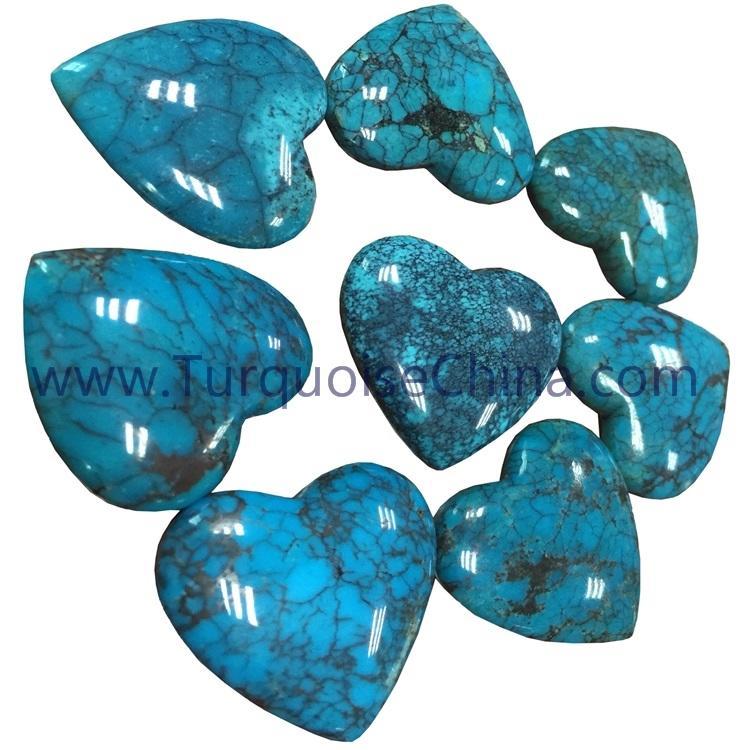 Beautiful Turquoise heart cabochon loose gemstone