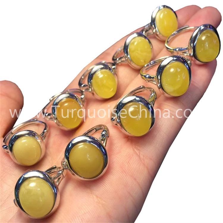Genuine Natural Amber Ring Jewelry/Fashion design gemstone