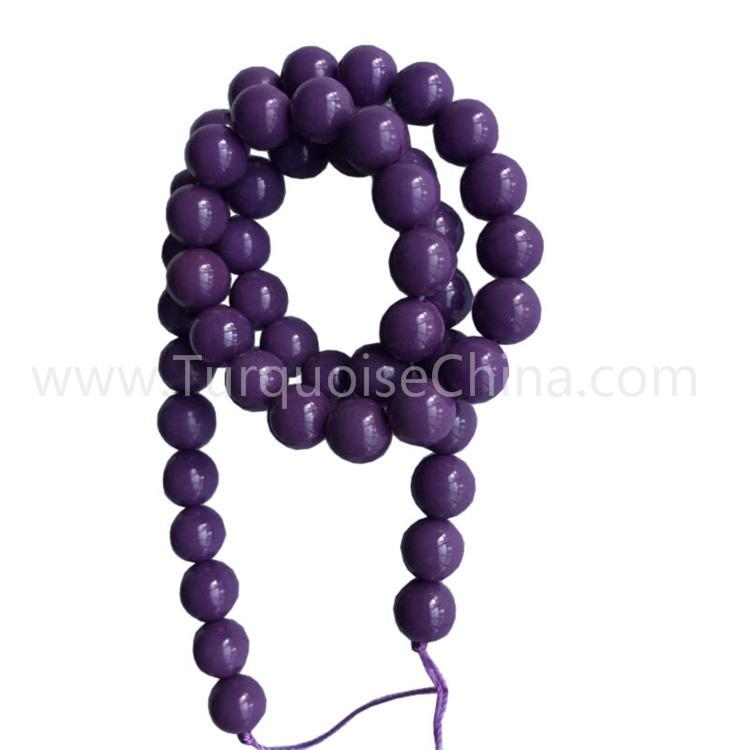 Natural and Beautiful Phosphosiderite Purple Round Beads Gemstone