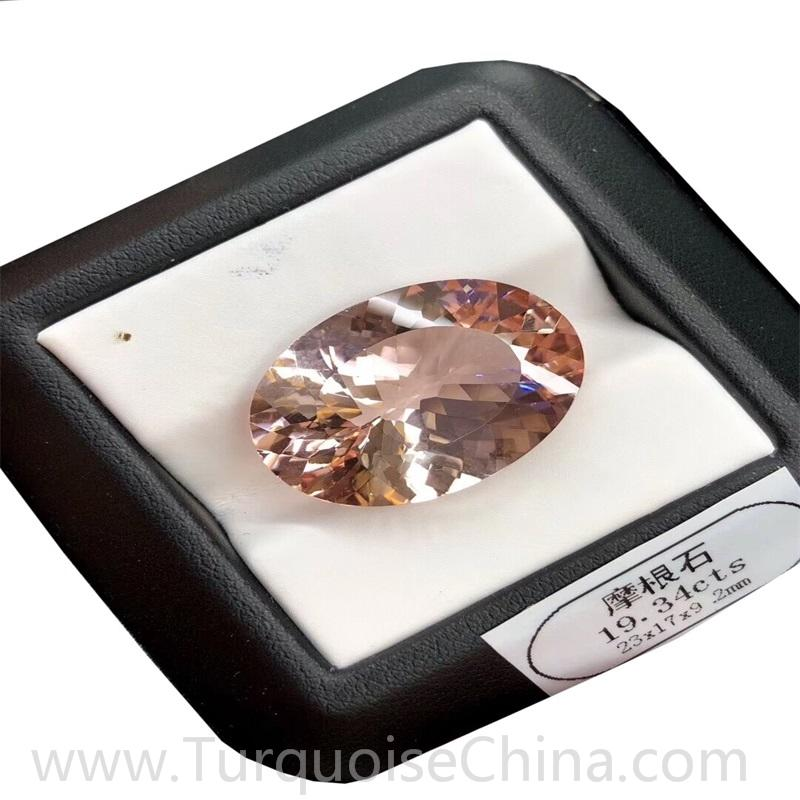 Hot-sale Natural Morganite Faceted Cabochon For Jewelry