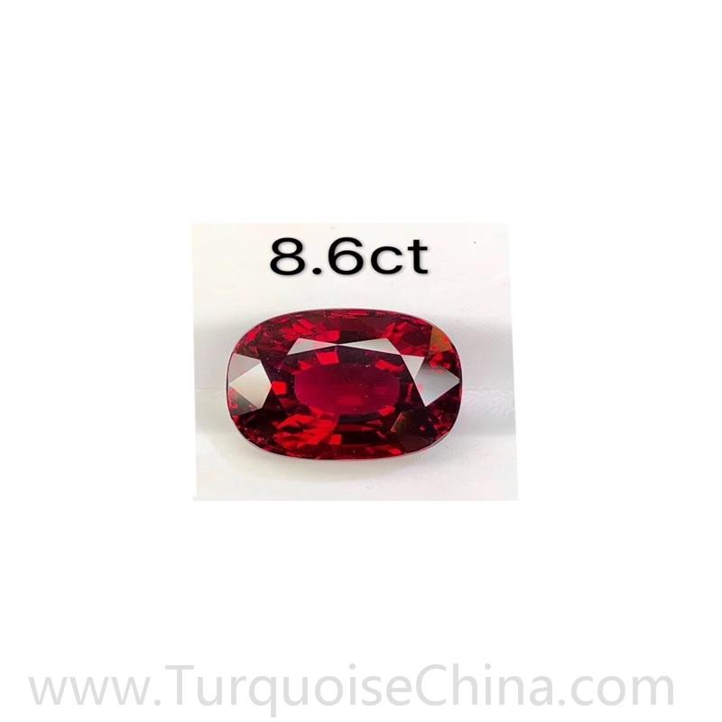 100% natural Red Tourmaline faceted cabochon for jewelry