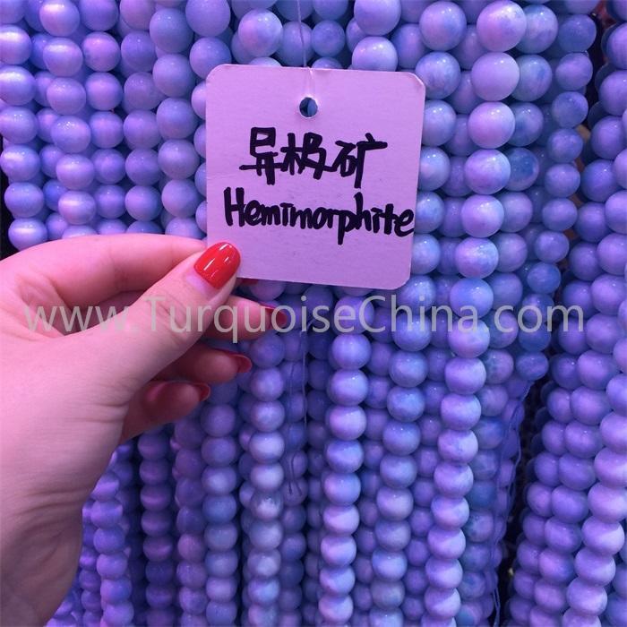 Natural Hemimorphite round beads gemstone for jewelry wholesale